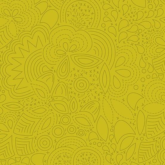 Stitched Chartreuse (A-8450-Y) Sun Print 2020 von Alison Glass