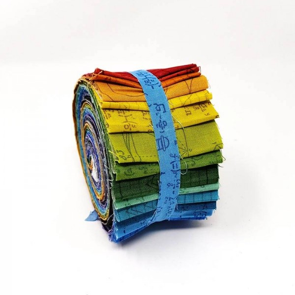 Andover Color Theory Jelly Roll