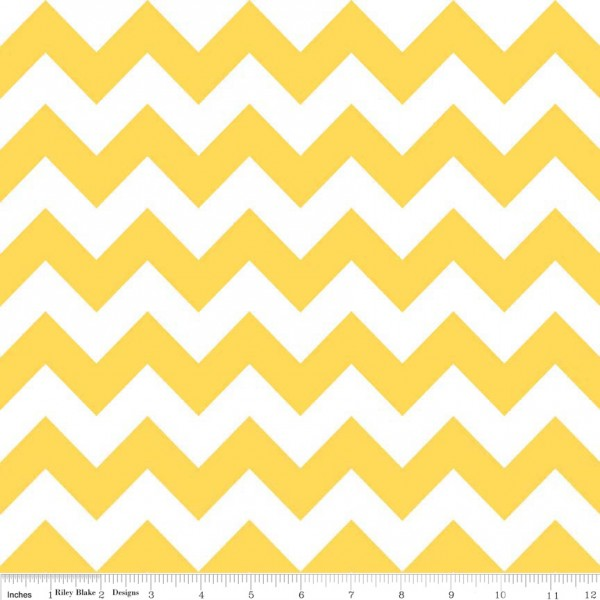 Medium Chevron Flannel Yellow (F320-50 YELLOW) von Riley Blake