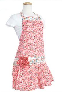 Riley Blake Punch & Cookies Apron Kit in Pink