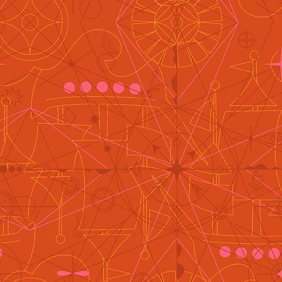 Compass Marmalade (A-8673-O) Sun Print 2018 von Alison Glass