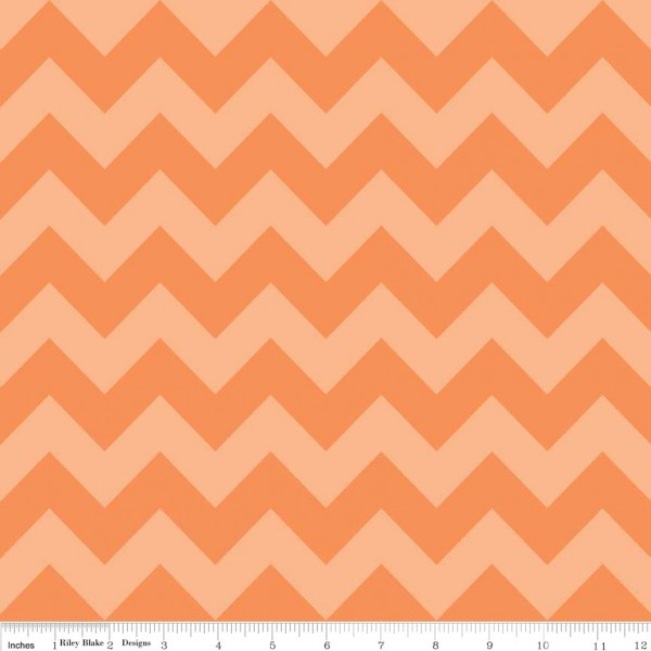 Medium Chevron Tone on Tone Orange (C380-61 ORANGE) von Riley Blake