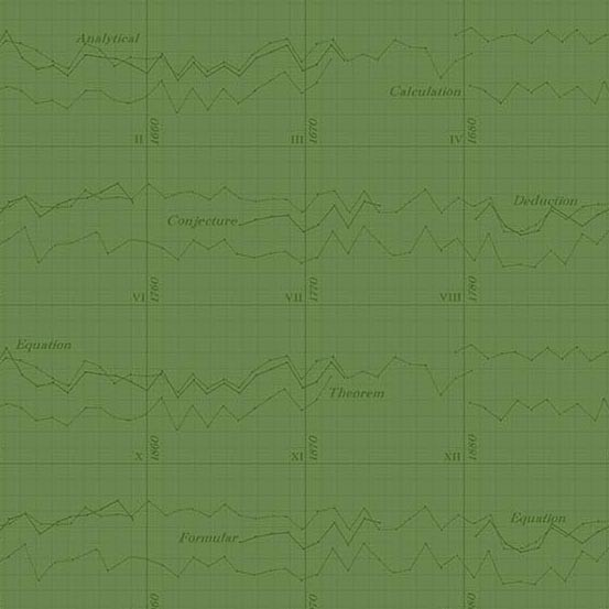 Color Theory Graph Green (A-9151-G) von Andover Fabrics