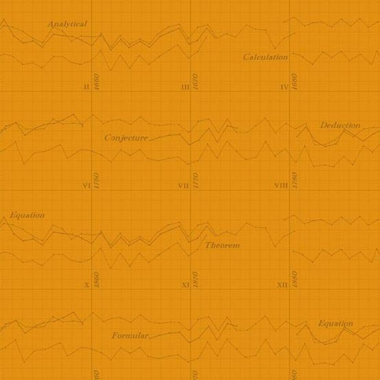 Color Theory Graph Orange (A-9151-O) von Andover Fabrics