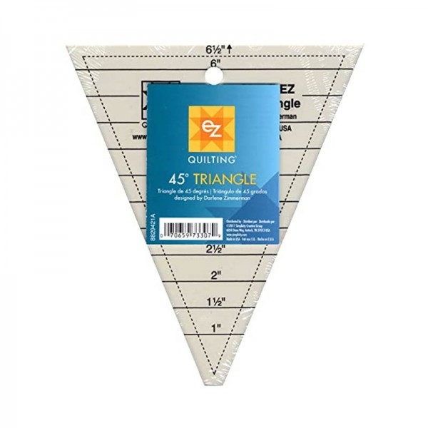 EZ Quilting 45° Triangle Ruler