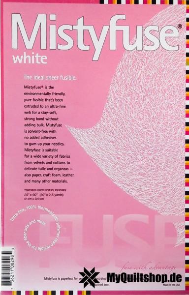 "MistyFuse Bügelvlies (Weiß) 20""x90"""