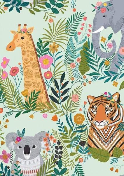 Our Planet Folk Animals Green (PLAN1731) von Dashwood Studio