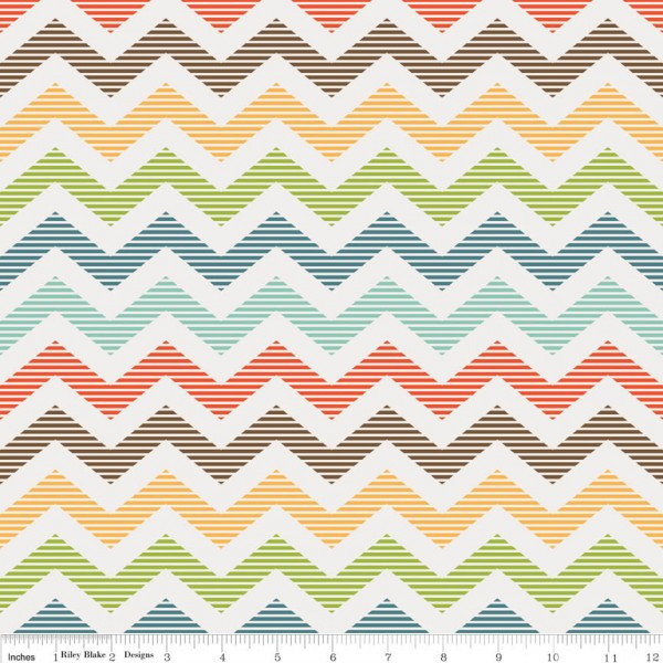 School Days - Chevron (c4823cre) von Riley Blake