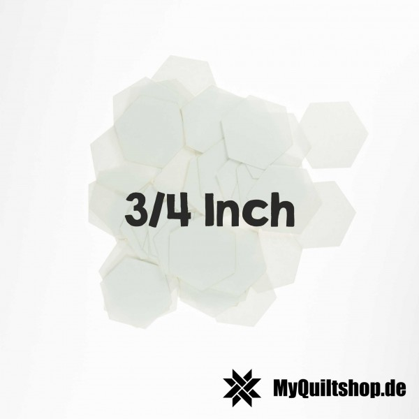 English Paper Piecing Schablonen Hexagon 3/4 Inch (125 St.)