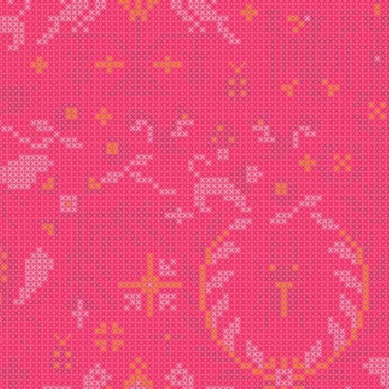 Menagerie Salmon (A-9387-E) Sun Print 2020 von Alison Glass