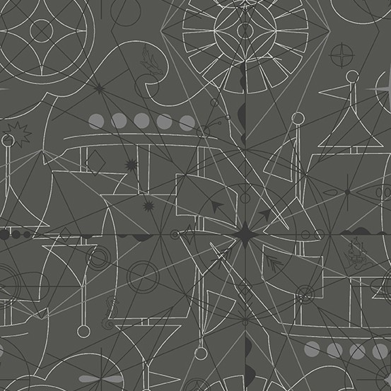 Compass Inky (A-8673-C) Sun Print 2018 von Alison Glass