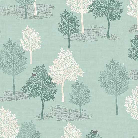 Woodland Trees Turquoise (2062-T) von Makower