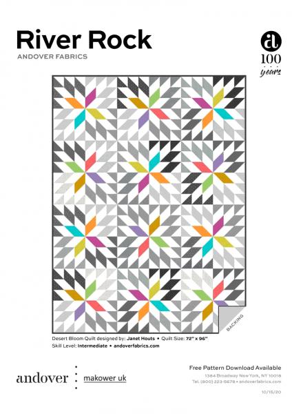 Desert Bloom Quilt Pattern Kostenloser PDF Download von Janet Houston