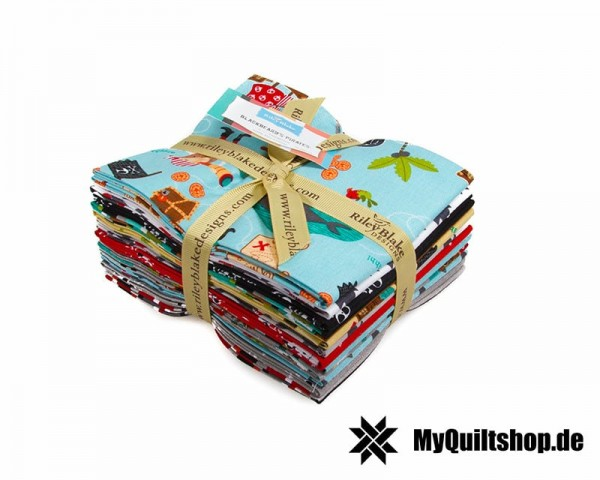 Riley Blake - Blackbeards Pirates Fat Quarter Bundle