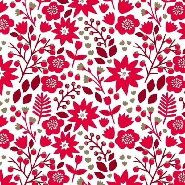 Starlit Hollow Red Floral Metallic (SHOL1652) von Dashwood Studio
