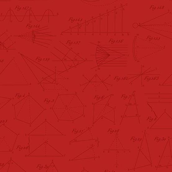 Color Theory Diagram Red (A-9152-R) von Andover Fabrics