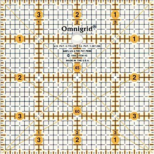 "Omnigrid - 4"" x 4"" Präzisionslineal"