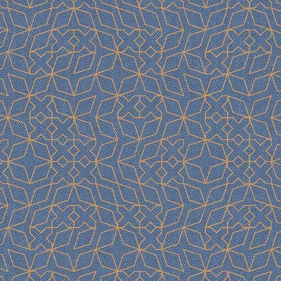 Stitch Washed Metallic (A-9351-MO) Almost Blue von Libs Elliott