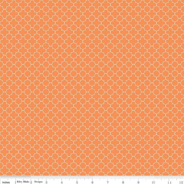 Quatrefoil Mini Orange (C345-60-ORANGE) von Riley Blake