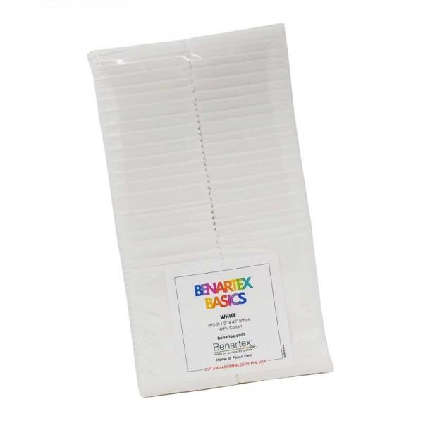 Benartex Basics White (Weiß) Strip-Pie