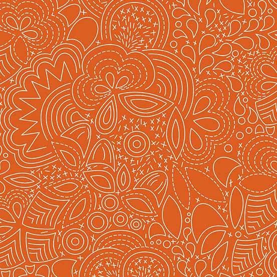 Hopscotch Stitched (CS-21-PAPRIKA) von Alison Glass