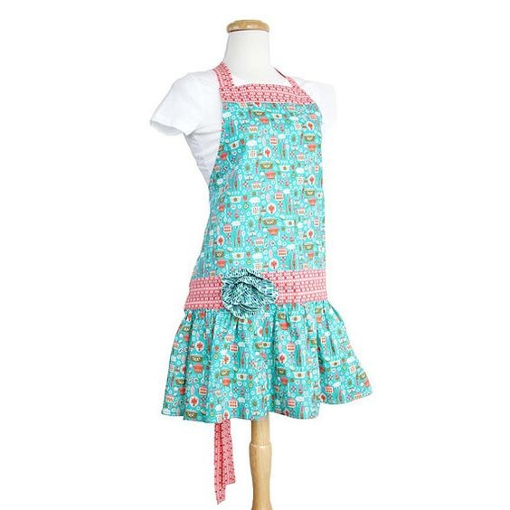 Riley Blake - Punch & Cookies Apron Kit in Petrol