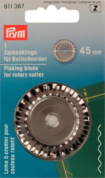 Prym - Ersatzklinge für Rollschneider 45 mm (Zick-Zack)