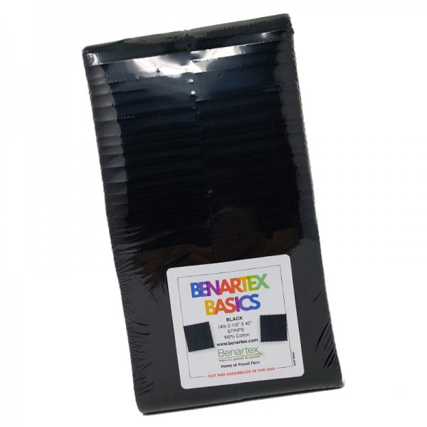 Benartex Basics Black Strip-Pie
