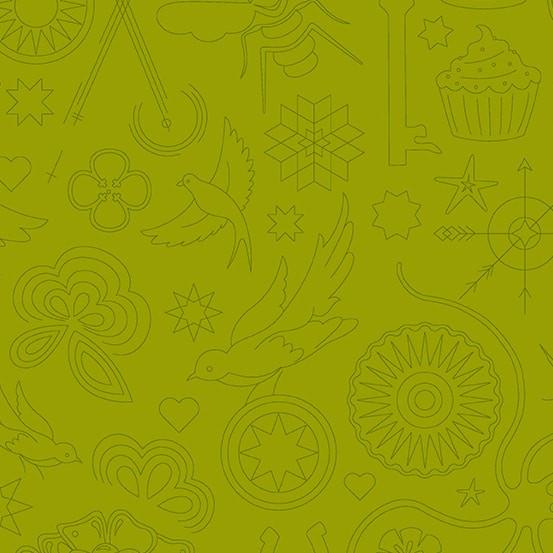Embroidery Olive (A-9256-V) Sun Print 2020 von Alison Glass