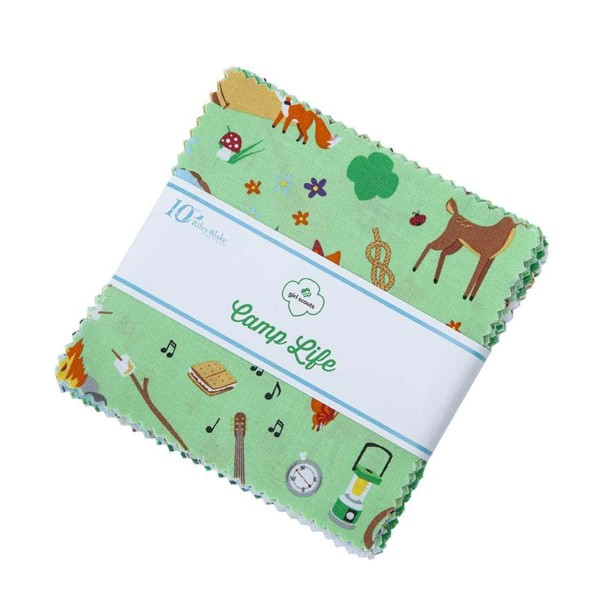 Riley Blake Girl Scout™ Camp Life Charm Pack