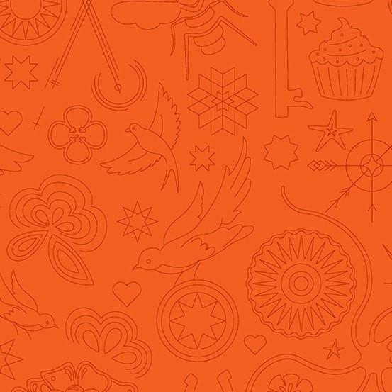 Embroidery Pumpkin (A-9256-O) Sun Print 2020 von Alison Glass