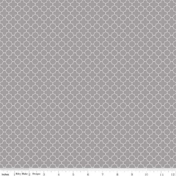 Quatrefoil Mini Grau (C345-40-GRAY) von Riley Blake