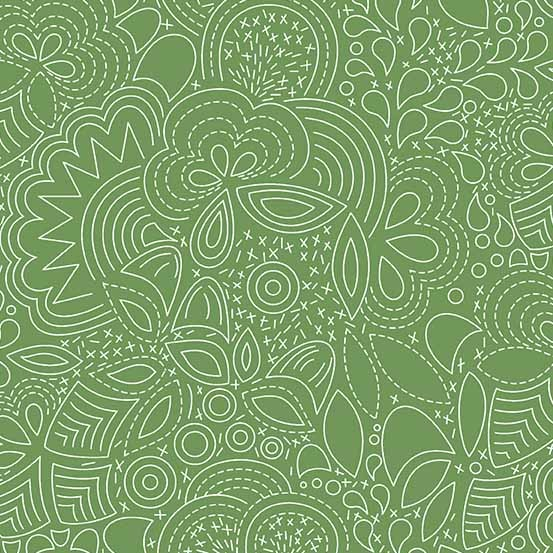 Hopscotch Stitched (CS-21-PICKLE) von Alison Glass