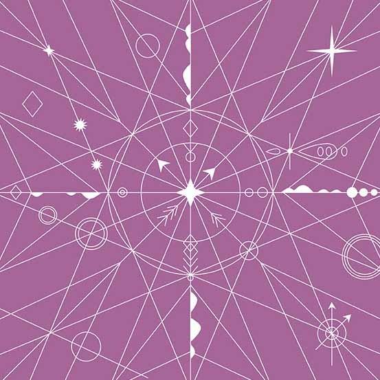 Hopscotch Compass (CS-22-Orchid) von Alison Glass