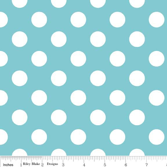 Medium Dots Flannel Aqua (F360-20 AQUA) von Riley Blake