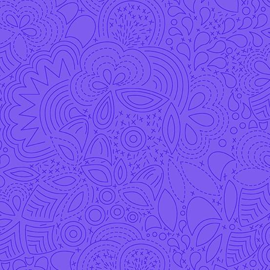 Stitched Liberty (A-8450-P) Sun Print 2020 von Alison Glass