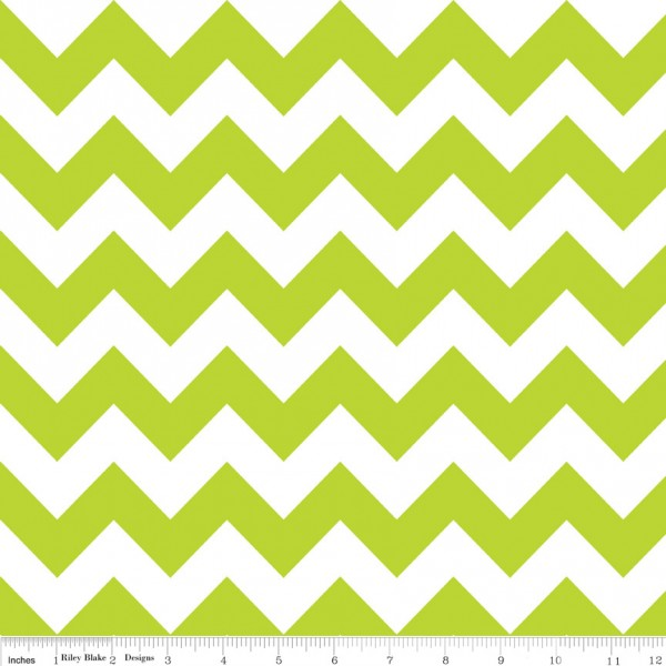 Medium Chevron Flannel Lime (F320-32 LIME) von Riley Blake