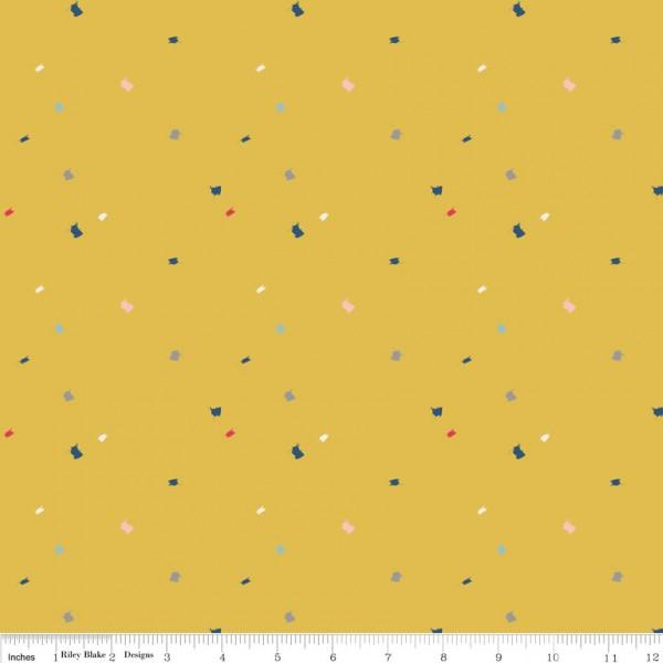 Dear Diary Foxrain Yellow (C6673-YELLOW) von Riley Blake