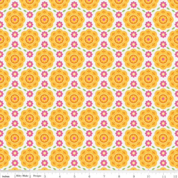 Summer Song 2 Flannel Yellow (F4622-YELLOW) von Riley Blake