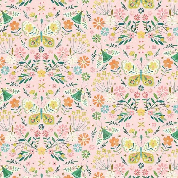 Hedgerow Butterflies on Pink (HEDG1837) von Dashwood Studio