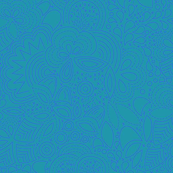 Stitched Peacock (A-8450-B) Sun Print 2020 von Alison Glass