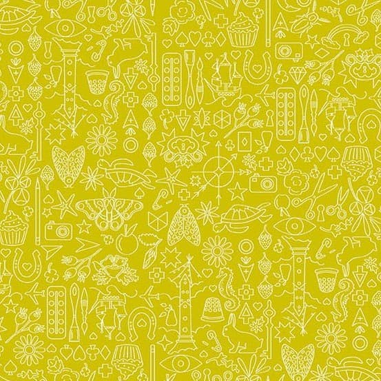 Collection Chartreuse (A-9036-G) Sun Print 2019 von Alison Glass