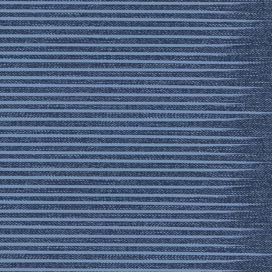 Stripe Rinsed (A-9349-B) Almost Blue von Libs Elliott