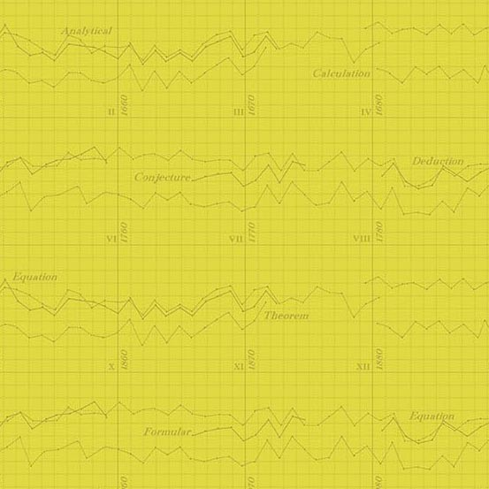 Color Theory Graph Yellow (A-9151-Y) von Andover Fabrics