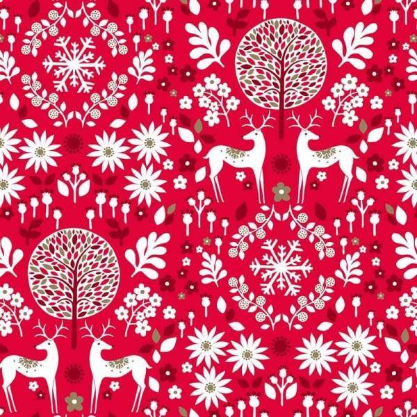 Starlit Hollow Red Reindeer on Dark Metallic (SHOL1649) von Dashwood Studio