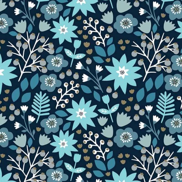 Starlit Hollow Teal Floral Metallic (SHOL1691) von Dashwood Studio