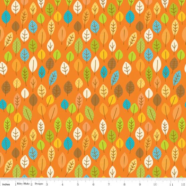 Happy Harvest Blätter (c4032orange) von Riley Blake