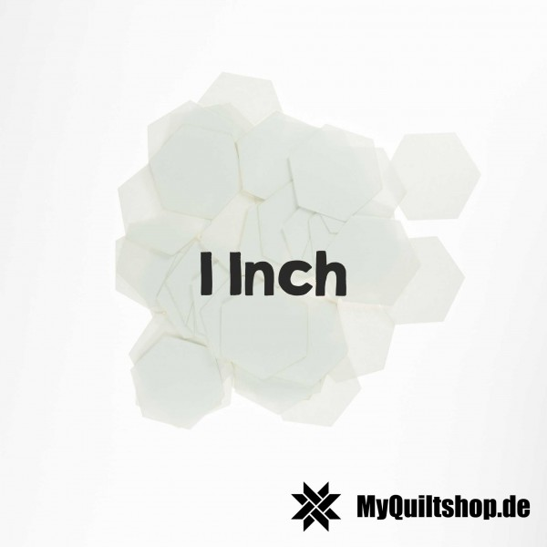 English Paper Piecing Schablonen Hexagon 1 Inch (100 St.)