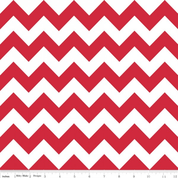 Medium Chevron Flannel Red (F320-80 RED) von Riley Blake