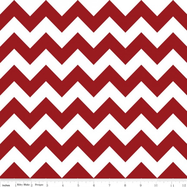 Medium Chevron Flannel Crimson (F320-85 CRIMSON) von Riley Blake